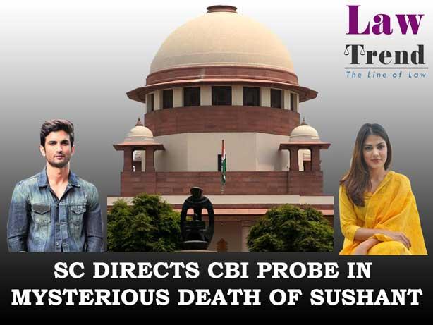 shushant singh rajput judgment transfer