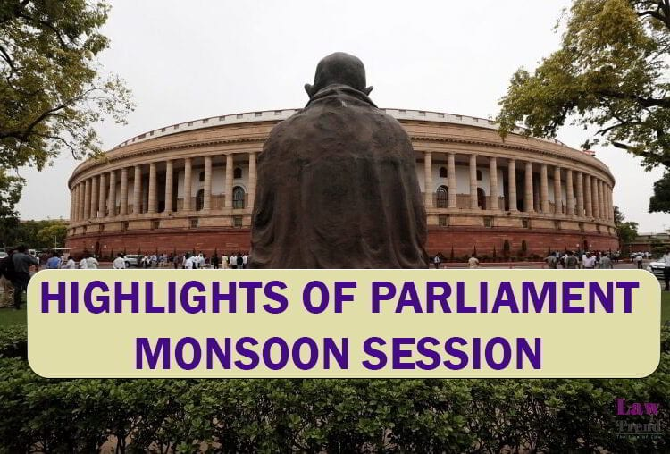 Parliament Monsson Session 2020 Highlights