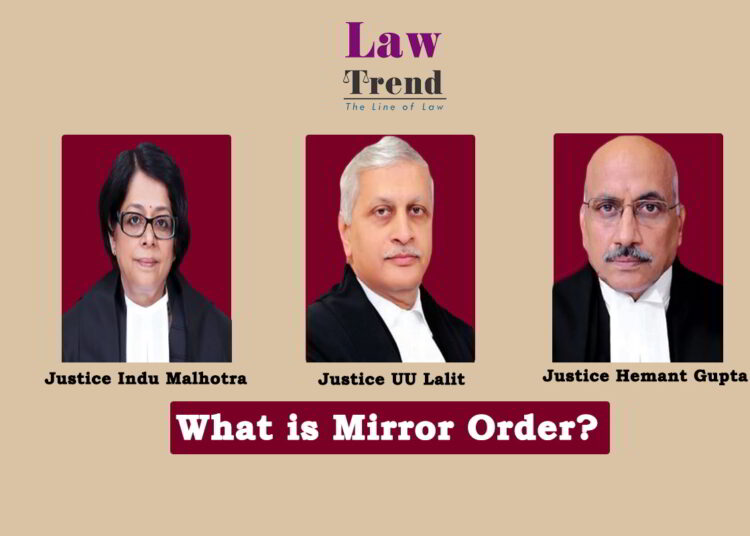 Justices UU Lalit Indu Malhotra and Hemant Gupta