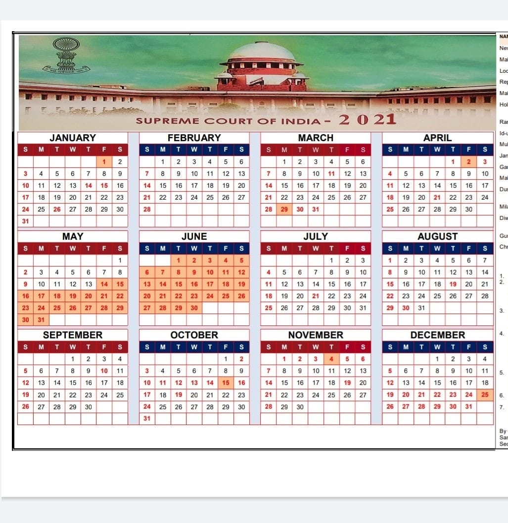 Supreme Court Calendar 2022.Supreme Court Issues Calendar For 2021 Law Trend