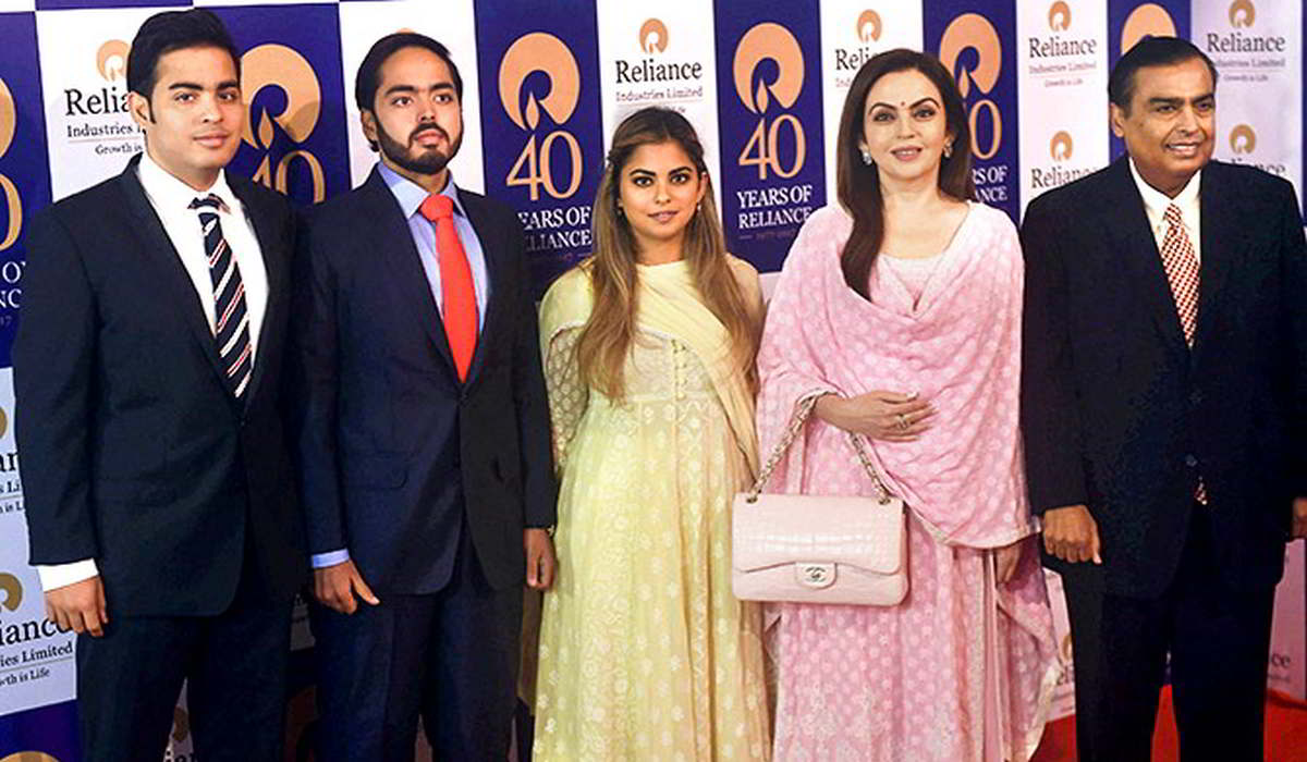 mukesh ambani family