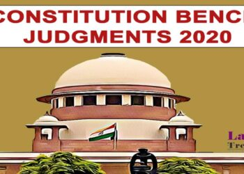 Constitution Bench Judgments Supreme Court 2020