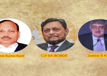 SA Bobde S K Kaul Surya kant Justices supreme court