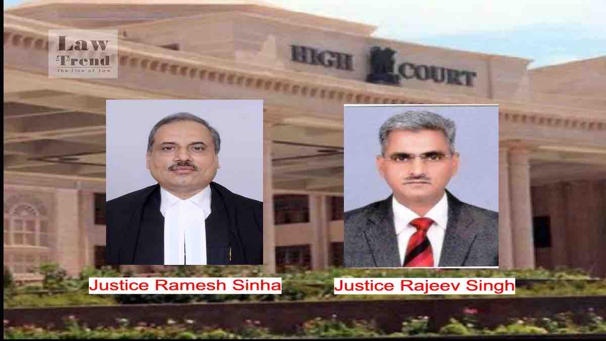 Justices Ramesh Sinha Rajeev Singh Allahabad High Court Lucknow