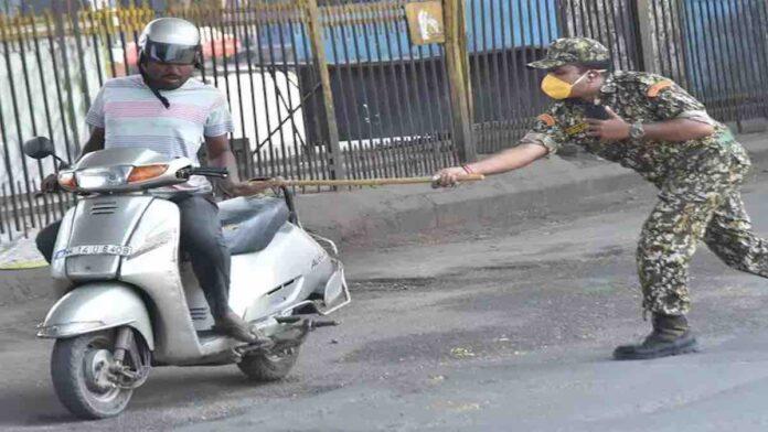 Curfew Police Lathi