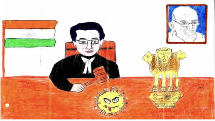 CJI Applaads Letter and Drawing of 10 year old girl sends copy of constitution