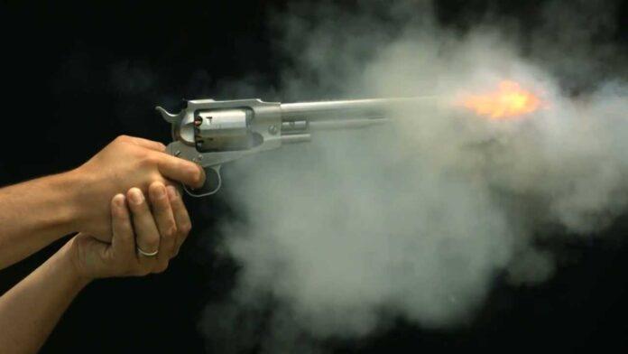 revolver firing