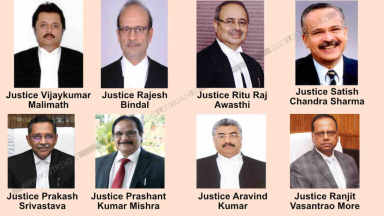 Supreme Court Collegium Recommends Appointment of 8 Judges as Chief Justices of HC- Read Statement