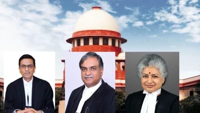 Justice dy chandrachud-vikram nath-bv nagarathna - supreme court